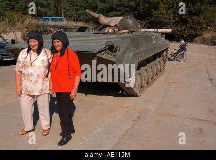 Exhibition of military equipment, Harnekop, Germany - Stock Photo