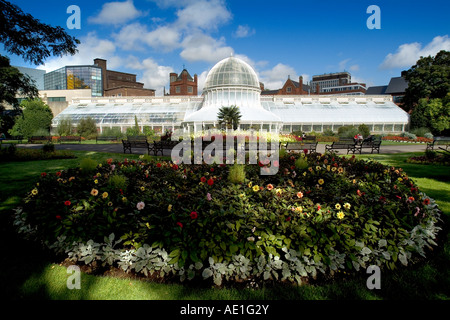 Palm House Botanic Gardens Belfast Northern Ireland - Stock Photo