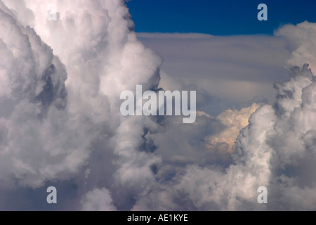 Aerial View of Cumulus Clouds Moscow Region Russia - Stock Photo