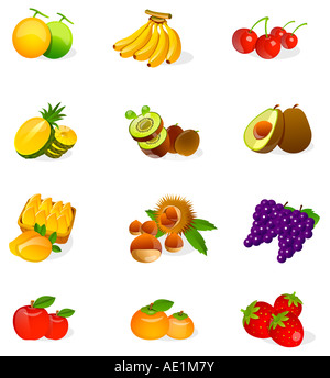 Different types of fruits - Stock Photo