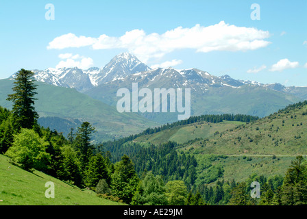 The Col d Aspin - Stock Photo