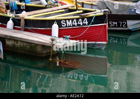 Fishing boats in Brighton Marina Sussex England UK - Stock Photo