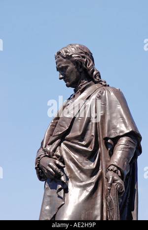 Isaac Newton statue, Grantham, Lincolnshire, England, UK - Stock Photo