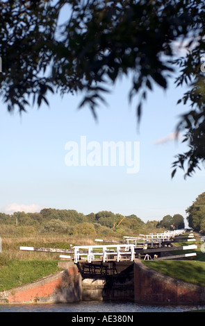 PICTURE CREDIT Doug Blane The flight of locks at Devizes on the kennet and avon canal - Stock Photo