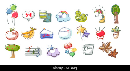 Close-up of different types of objects - Stock Photo