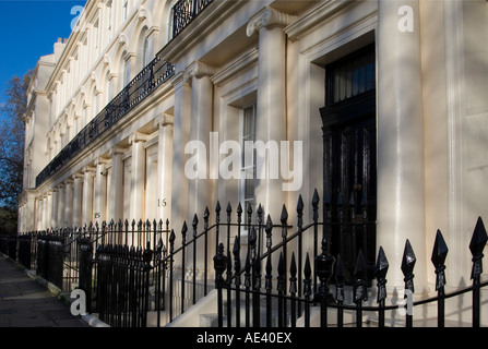 Cumberland House in Cumberland Terrace, a Regency style building near Regent's Park, designed by John Nash, London, - Stock Photo