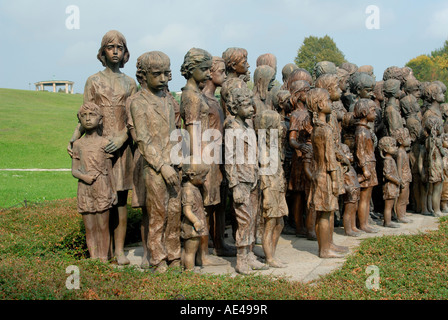 Memorial to children of Lidice, Lidice, Central Bohemia, Czech Republic, Europe - Stock Photo