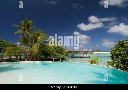 Pearl Beach Resort, Tikehau, Tuamotu Archipelago, French Polynesia, Pacific Islands, Pacific - Stock Photo