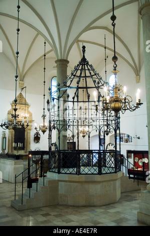 The Old Synagogue (Stara Synagoga) in the Jewish District of Kazimierz, Krakow (Cracow), Poland, Europe - Stock Photo