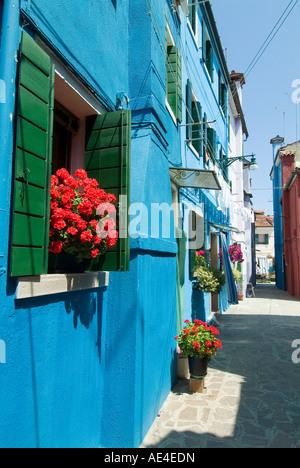 Burano, island near Venice, Veneto, Italy, Europe - Stock Photo