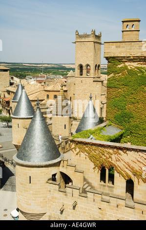 Medieval Old Town, Olite, Navarra, Euskadi, Spain, Europe - Stock Photo