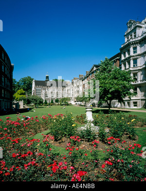 Middle Temple Hall Inns of Court and Gardens with Barristers Chambers City of London EC4 England  - Stock Photo