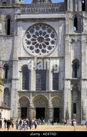 Cathedrale Notre Dame de Chartres the Cathedral of Our Lady of Chartres France - Stock Photo