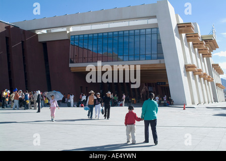 New Railway station, Beijing to Lhasa, Lhasa, Tibet, China, Asia - Stock Photo