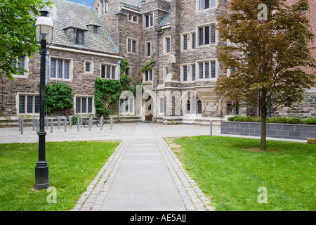 Foulke Hall a dorm building in collegiate gothic architecture style at ivy league Princeton University New Jersey - Stock Photo
