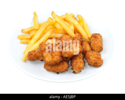 Scampi and Chips - Stock Photo