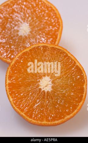Orange fruits (Citrus aurantium sinensis) - Stock Photo