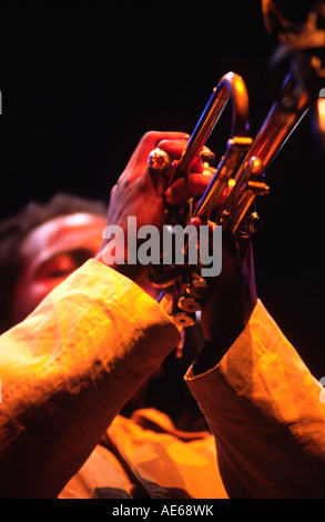 ROY HARGROVE plays a tribute to Miles and Coltrane at the MONTEREY JAZZ FESTIVAL CALIFORNIA - Stock Photo