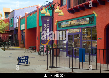 usa arizona tucson downtown la placita complex colorful building stock photo royalty free. Black Bedroom Furniture Sets. Home Design Ideas