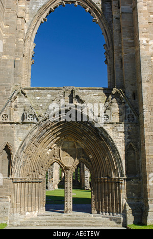Elgin Cathedral West Entrance Moray Grampian Region Scotland - Stock Photo