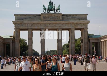 Brandenburger Tor, Brandenburg Gate, Berlin, Germany - Stock Photo