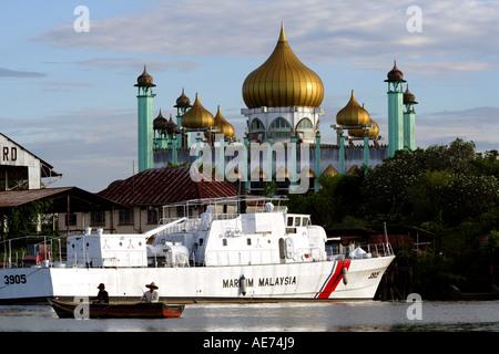 Sarawak State Mosque, the Main Mosque or the Kuching Mosque, Kuching, Sarawak, Borneo, Malaysia - Stock Photo
