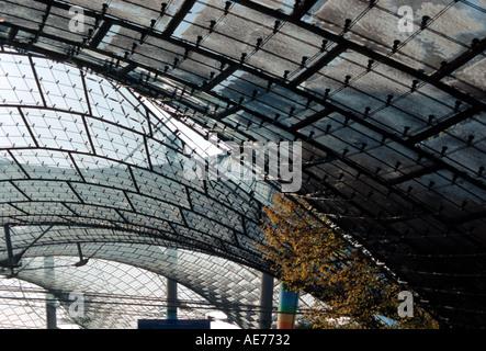 Munich Olympic Stadium In Winter Snow Germany Stock Photo