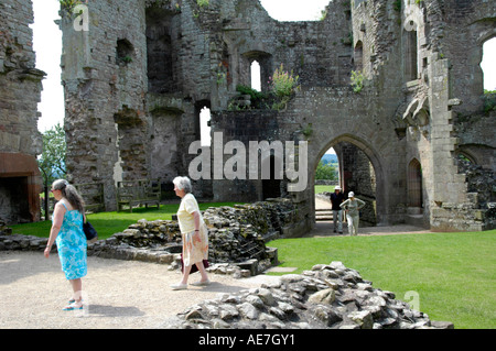The South Gate at Raglan Castle Monmouthshire South East Wales UK - Stock Photo