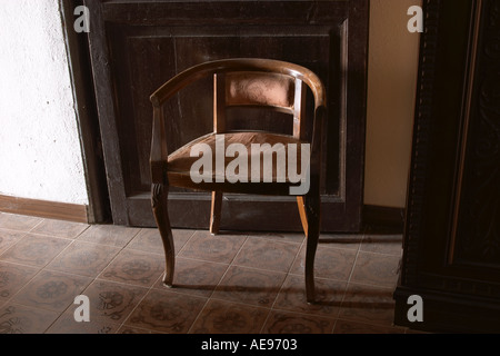 Old chair in a country house Val Trebbia Piacenza - Stock Photo