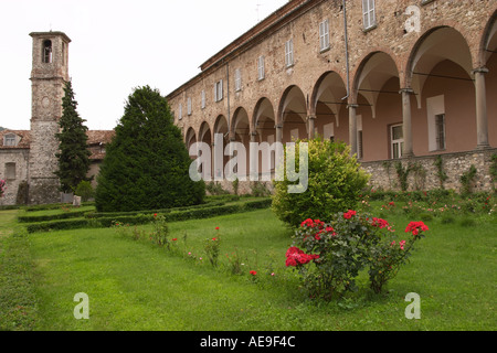 San Colombano Abbey Valtrebbia Italy - Stock Photo