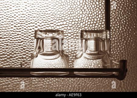 Two glasses Valtrebbia Italy - Stock Photo