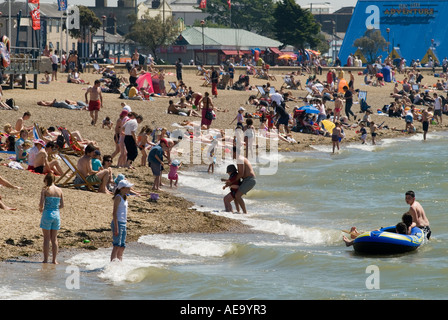 Beach scene Southend on Sea Essex England HOMER SYKES - Stock Photo