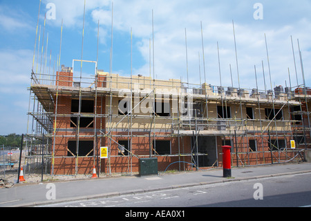 Building site on brown field site in East London UK - Stock Photo