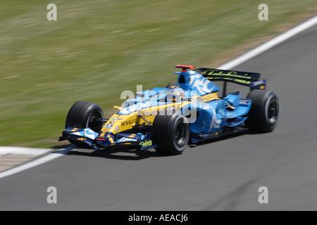 Fernando Alonso Renault British F1 Grand Prix Silverstone June 2006 - Stock Photo