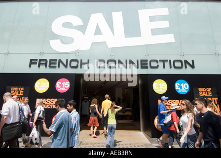 1a03c9b4f62 Summer sale sign at French Connection clothes store on Oxford street in central  London UK -