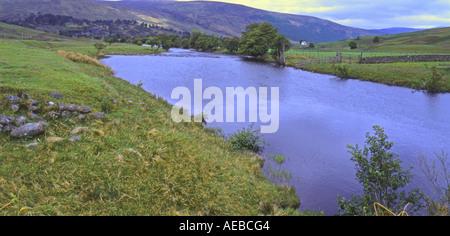River Lyon near Bridge of Balgie Scotland Glen Lyon is 30 miles long and the longest glen in Scotland Grampion Mountains - Stock Photo