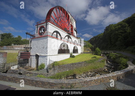 Laxey water wheel in the Isle of Man - Stock Photo