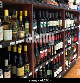 Bottles Of Wine For Sale In Wine Retail Store, California USA - Stock Photo