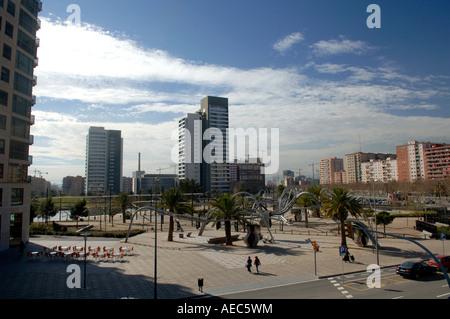 Parc Diagonal Mar, Barcelona, Spain - Stock Photo