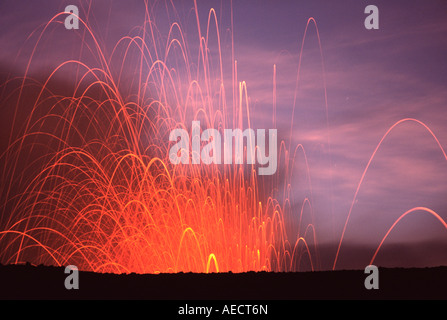 Tanna Island, Mount Yasur Volcano - Stock Photo