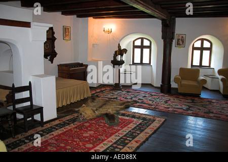 Music Room, Bran Castle, Bran, near Brasov, Transylvania, Romania - Stock Photo