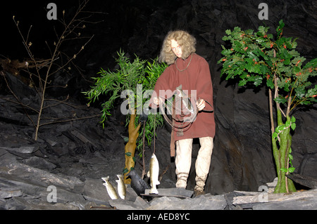 Display King Arthur s Labyrinth Corris Craft Centre North West Wales - Stock Photo