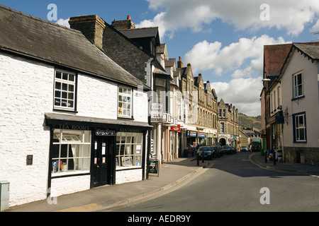 UK Wales Powys Builth Wells High Street cosy corner tea room - Stock Photo
