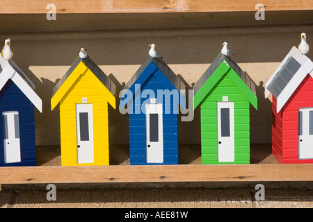 Colourful model houses in shop window la boca buenos aires for Model beach huts