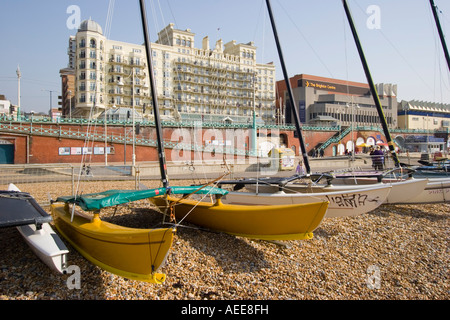 Yachts on the beach in Brighton