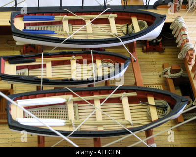 Agamemnon, 64 gun ship of 1794, Nelson's favourite ship of the line - Stock Photo