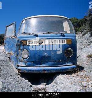 VW Van Skyros Greek Islands Hellas Greece Hellas - Stock Photo
