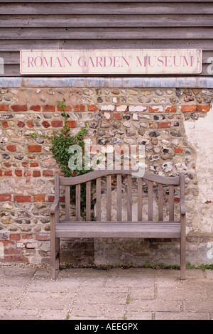 Exterior of Roman Garden Museum, Fishbourne Roman Palace, West Sussex, England - Stock Photo