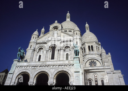 Sacre Coeur Cathedral in Paris France - Stock Photo