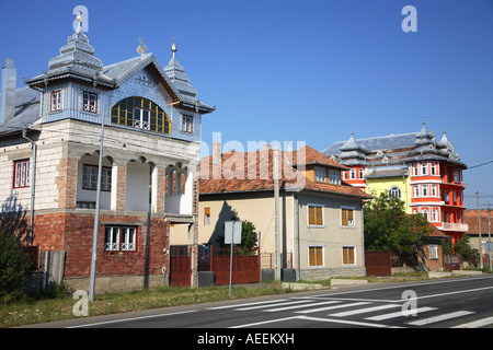 Gypsy house of rich wealthy Roma, Rroms family in Transylvania, Romania - Stock Photo